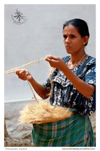 Marari Beach I alleppy I coir rope making