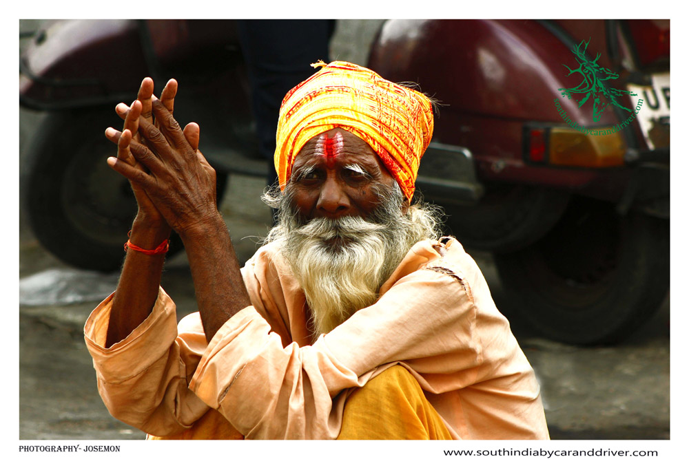 Indian Sadhu I south india by car and driver