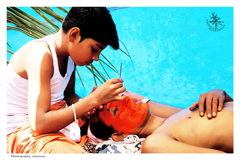 Theyyam makeup